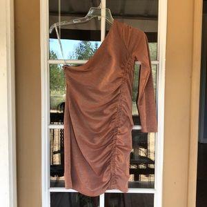 Guess Sparkle Copper Bodycon Dress